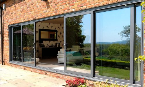 Black-aluminium-sliding-door