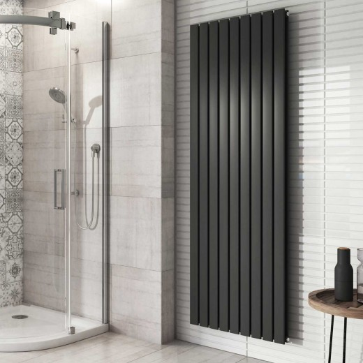 Price 4 - £465 - Double Vertical Radiator Grey 1800 x 610